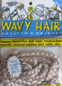 One & Only Craft WAVY DOLL HAIR Braided & Crimped 5 FEET Colour GOLDEN BLONDE