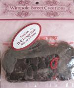 WIMPOLE Craft DOLL FRINGE HAIR Sewn on a RIBBON Size MEDIUM Colour DARK BROWN