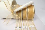 Light Gold Organza Ribbon With Satin Edge-25 Yards X 1.6cm