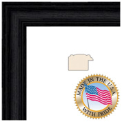ArtToFrames 18x 24 Black Stain on Solid Red Oak Picture Frame 3.2cm Wide 0066-59504-YBLK