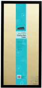 MCS 23cm x 50cm Linen Lined Shadow Box in Black Finish