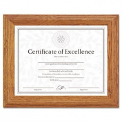Burnes Home Accents 2703N8X Document/Certificate Frame, Wood, 8-1/2 x 11, Stepped Oak