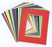 Pack of 20 MIXED colours 11x14 Picture Mats Matting with White Core Bevel Cut for 8x10 Pictures