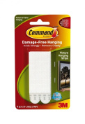 Command Large Picture-Hanging Strips, White, 12-Strip