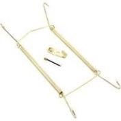 Plate Hanger 13cm - 18cm Polished Brass