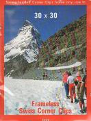 BC Imports Swiss Corner Clips 80cm . x 80cm . silver
