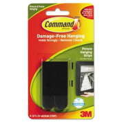 Command Picture Hanging Strips, 1.9cm x 7cm , Black, 4/Pack