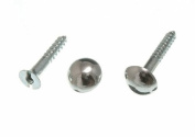 MIRROR SCREW AND DOME HEAD CHROME No. 8 X 32MM 1 1/4 INCH