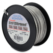 SuperSoftstrand Size 8 -125-Feet Picture Wire Vinyl Coated Stranded Stainless Steel