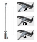 Arti Teq Self Grip Hook W/ Steel Cable