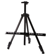 Amzdeal Portable Tripod Artist's Adjustable Aluminium Art Easel Tripod Stand Telescopic Reeves + Bag