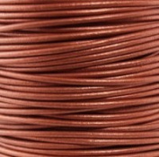 Genuine Leather Cord 1mm Metallic Copper