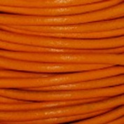 Genuine Leather Cord 2mm Orange