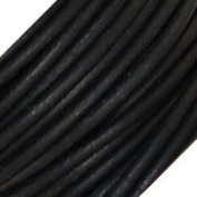 Genuine Leather 3mm Black Round