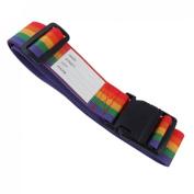 TOOGOO(R) Side Release Buckle Rainbow Style Adjustable Nylon Suitcase Belt
