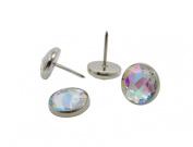 Decotacks 1.1cm Crystal Upholstery Sofa Nails, Tacks, Iridescent Colour [100 Pcs]