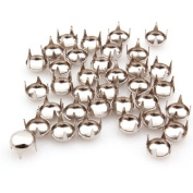 Generic Silver Round Studs Spots Nailheads 6mm Cone Studs Rivet For DIY Pack Of 100