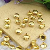 Come2Buy 100pcs 8MM ANTIQUE Gold Round Dome Metal Studs Spots Nailheads Fastners