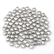 100x Silver 8mm Pyramid Studs Spots Punk Nailheads Spikes for Bag Shoes Bracelet