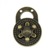 Springfield Leather Company Antique Brass Plate Round Turn Lock Clasp