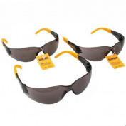 3 Pair Set DeWALT Protector Smoke Lens Safety Glasses