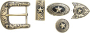 Springfield Leather Company's 11pc Buckle Set, Stars, Bronze