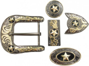 Springfield Leather Company's 11pc Buckle Set, Stars, Gunmetal/Gold