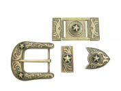 Springfield Leather Company's 6pc Buckle Set, Stars, Bronze