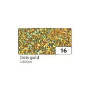 Holographic Mylar Roll- Gold Dots 40cm x 16ft