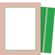 Mara-Mi Letterhead Red Fishnet, 22cm x 28cm , 100 sheets/envelopes