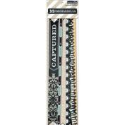 Memorabilia Die-Cut Cardstock Borders 20/Pkg-4 With Glitter