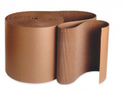 Aviditi SF04 A Flute Single Face Corrugated Roll, 250' Length x 10cm Width, Kraft