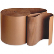 Aviditi SF03 A Flute Single Face Corrugated Roll, 250' Length x 7.6cm Width, Kraft