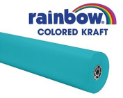 Pacon 63160 - Rainbow Duo-Finish Coloured Kraft Paper, 35 lbs., 36 x 1000 ft, Aqua