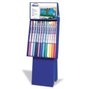 PAC57550 - Fadeless Corrugated Paper Display w/48 Rolls Art Paper in 10 Assorted Colours