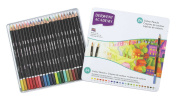 Derwent Academy Coloured Pencils, 3.3mm Core, Metal Tin, 24 Count