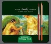 Artist Watercolour Pencil 24 Colour Set, Tin Box/24