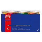 Caran D'ache Classicolor Classic Metal Box, 40 Colour Pencils