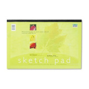 Pacon : Art Street Sketch Pad, 18 x 12, White, 50 Sheets/Pad -:- Sold as 2 Packs of - 1 - / - Total of 2 Each
