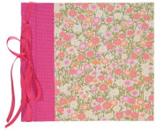 Books by Hand BBHK140-8 Ribbon Bound 20cm by 20cm Scrapbook, Pink