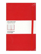 Moleskine Classic Hard Cover Notebooks red, ruled 8.9cm . x 14cm . 192 pages [PACK OF 2 ]