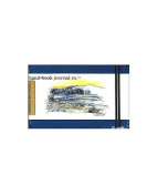 Hand Book Journal Co. Travelogue Drawing Journals 8.9cm . x 14cm . landscape ultramarine blue [PACK OF 2 ]