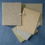 Journal Set in a Silk Portfolio- 10cm x 13cm