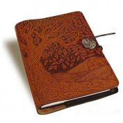 Tree of Life Embossed Leather Writing Journal, 15cm x 23cm