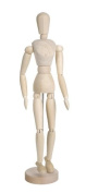Darice 41cm Sectioned Wood Manikin