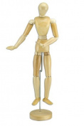 Wood Figure Manikin Wax Finish - Male 41cm
