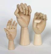 Jack Richeson Wood Hand Manikins adult male left hand