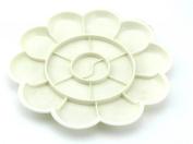 10 Wells Plastic Pallet Colour Palette Paint Tray White