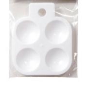 4-well White Plastic Palette, Paint Tray Palette, Kids Paint Palette, Watercolour,acrylic,oil Palette