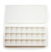 24-well Rectangular Plastic Watercolour Palette Box, Paint Tray Palette